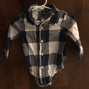Infant onesie button up shirt